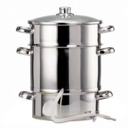 Extracteur de jus vapeur Baumalu 26 cm Induction Inox 18/10