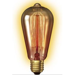 Goldline Rustic E27 - Ampoule décorative filament visible -Calex