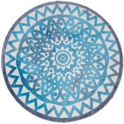Tapis rond Stacey Mad about Mats, toucher doux 100 cm antidérapant