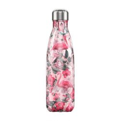 Chilly s Bouteille isotherme Tropical Flamant rose 500ml étanche