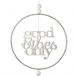 Räder Attrape Rêve, Dreamcatcher Good Vibes Only en métal 22 cm